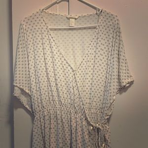 H&M Wrapover Blouse XL